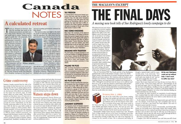Article Preview: THE FINAL DAYS, June 1994 | Maclean's