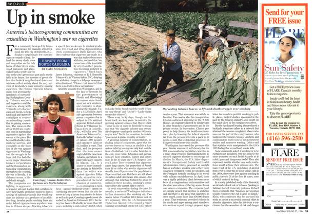 Article Preview: Up in smoke, June 1994 | Maclean's