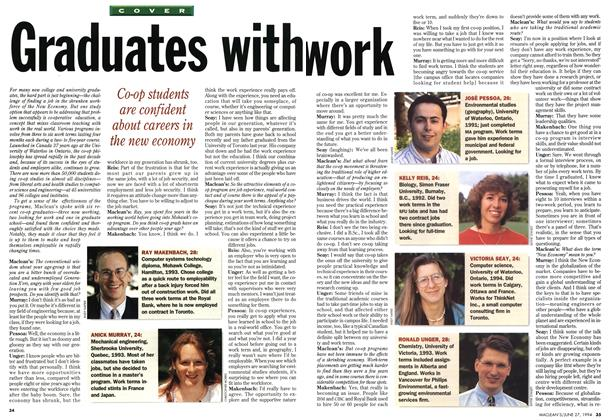Article Preview: Graduates with work, June 1994 | Maclean's