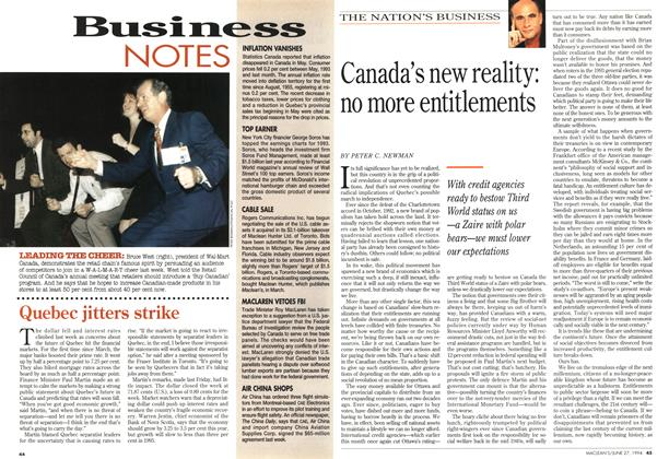 Article Preview: Canada's new reality: no more entitlements, June 1994 | Maclean's