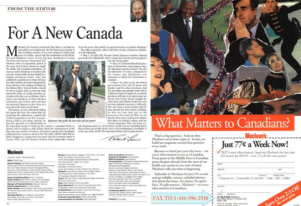 Article Preview: For A New Canada, June 1994 | Maclean's