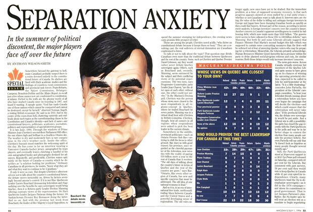 Article Preview: SEPARATION ANXIETY, July 1994 | Maclean's