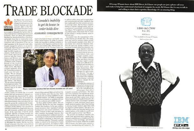 Article Preview: TRADE BLOCKADE, July 1994 | Maclean's