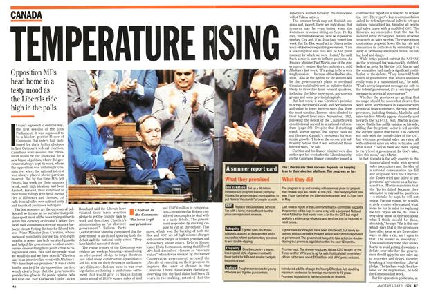 Article Preview: TEMPERATURE RISING, July 1994 | Maclean's