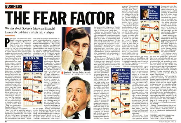 Article Preview: THE FEAR FACTOR, July 1994 | Maclean's