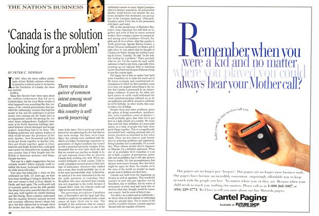 Article Preview: 'Canada is the solution looking for a problem', July 1994 | Maclean's