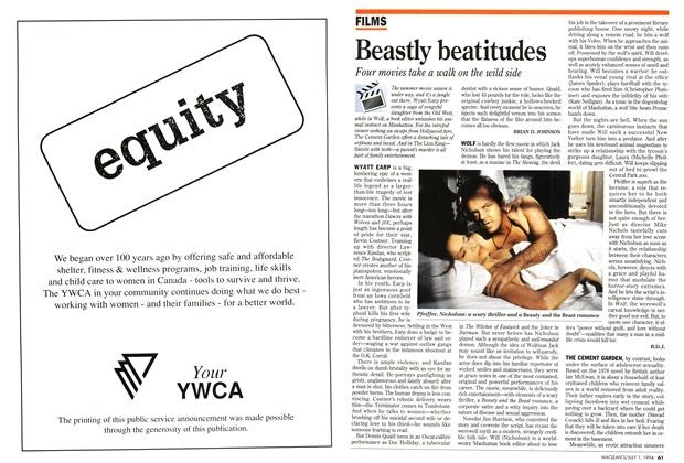 Article Preview: Beastly beatitudes, July 1994 | Maclean's