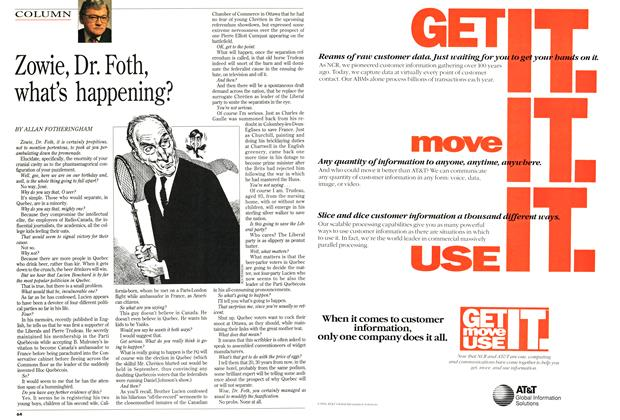 Article Preview: Zowie, Dr. Foth, what's happening?, July 1994 | Maclean's