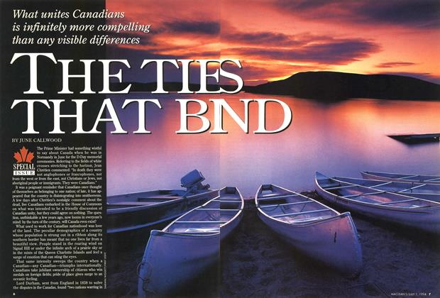 Article Preview: THE TIES THAT BIND, July 1994 | Maclean's