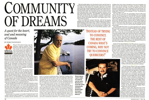Article Preview: COMMUNITY OF DREAMS, July 1994 | Maclean's