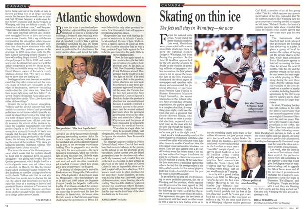 Article Preview: Skating on thin ice, July 1994 | Maclean's