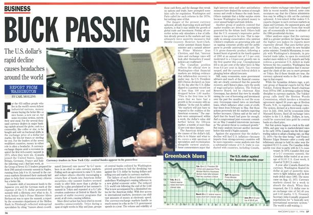 Article Preview: BUCK PASSING, July 1994 | Maclean's