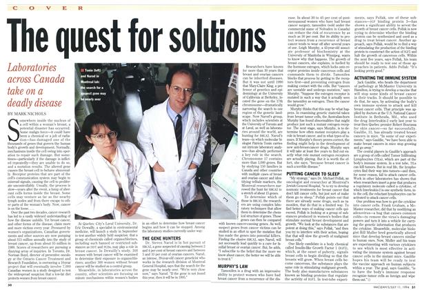 Article Preview: The quest for solution, July 1994 | Maclean's