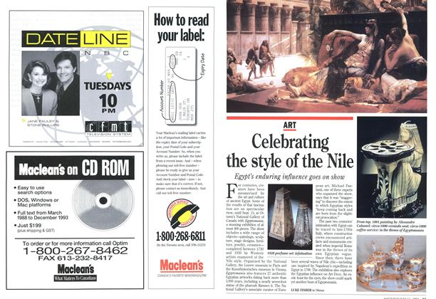 Article Preview: Celebrating the style of the Nile, July 1994 | Maclean's