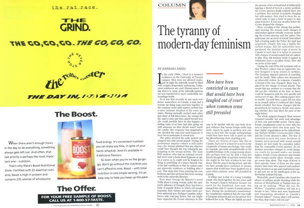 Article Preview: The tyranny of modern-day feminism, July 1994 | Maclean's