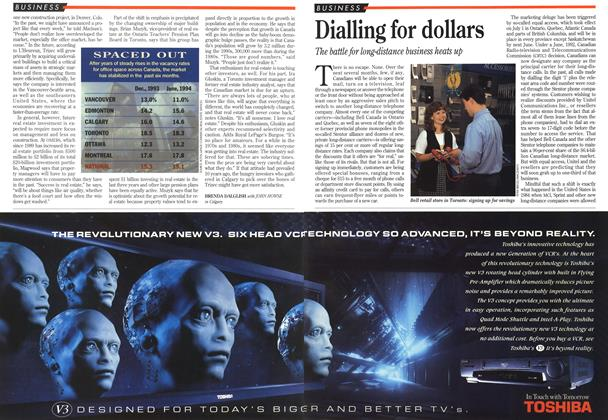 Article Preview: Dialling for dollars, July 1994 | Maclean's