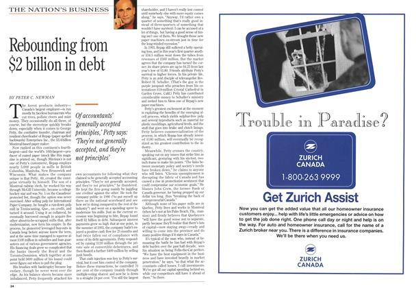 Article Preview: Rebounding from $2 billion in debt, July 1994 | Maclean's
