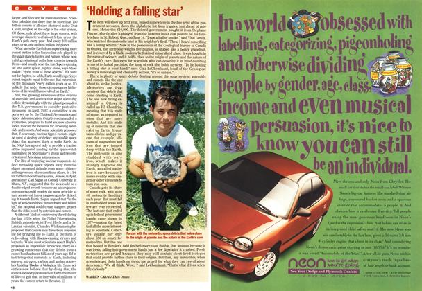Article Preview: 'Holding a falling star', July 1994 | Maclean's