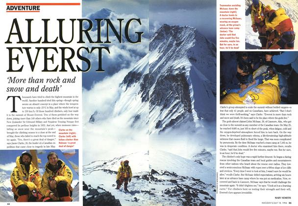 Article Preview: ALLURING EVERST, July 1994 | Maclean's