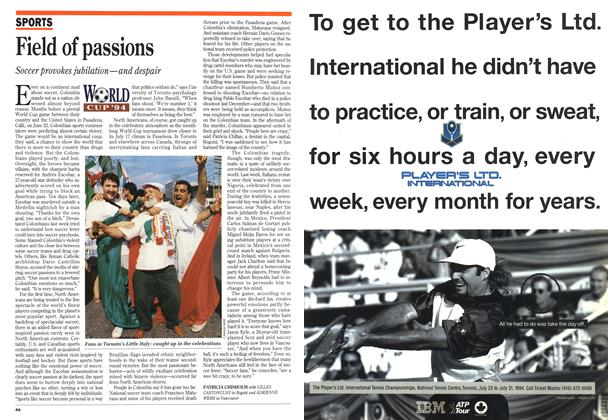 Article Preview: Field of passions, July 1994 | Maclean's