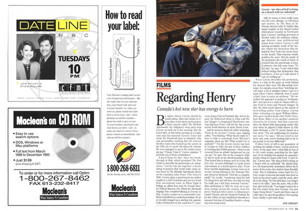 Article Preview: Regarding Henry, July 1994 | Maclean's