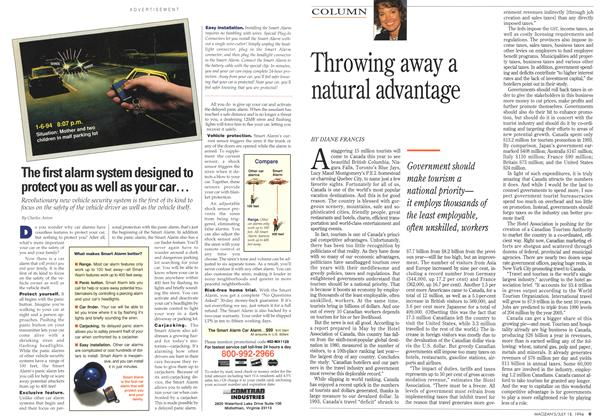 Article Preview: Throwing away a natural advantage, July 1994 | Maclean's