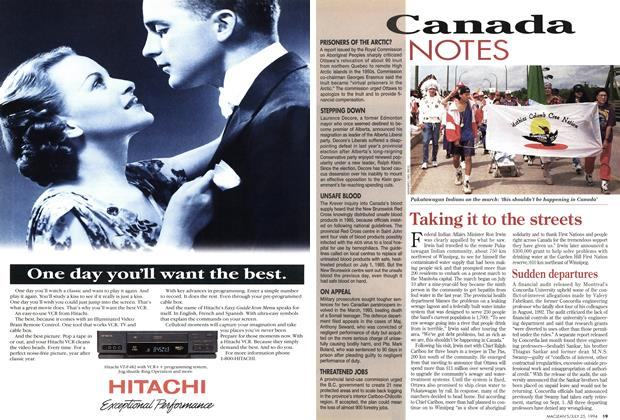 Article Preview: Sudden departures, July 1994 | Maclean's