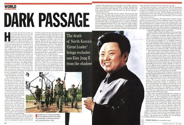 Article Preview: DARK PASSAGE, July 1994 | Maclean's