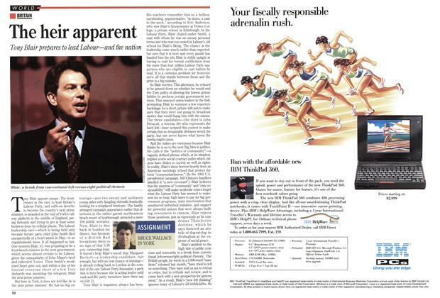 Article Preview: The heir apparent, July 1994 | Maclean's
