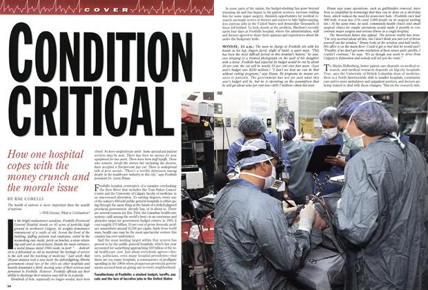 Article Preview: CONDITION CRITICAL, July 1994 | Maclean's
