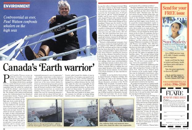 Article Preview: Canada's 'Earth warrior', July 1994 | Maclean's