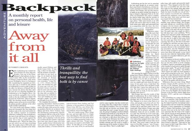 Article Preview: Away from it all, July 1994 | Maclean's