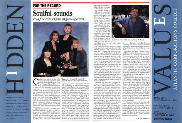 Article Preview: Soulful sounds, July 1994 | Maclean's