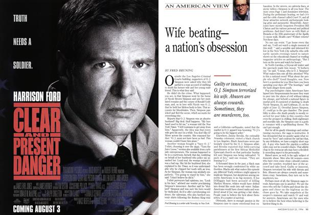 Article Preview: Wife beating-a nation's obsession, July 1994 | Maclean's