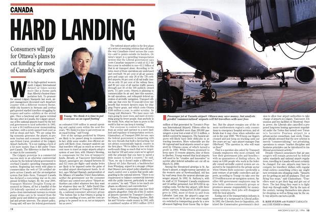 Article Preview: HARD LANDING, July 1994 | Maclean's