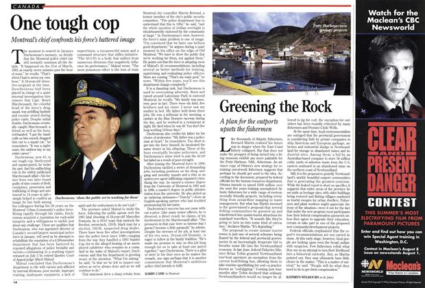 Article Preview: One tough cop, July 1994 | Maclean's