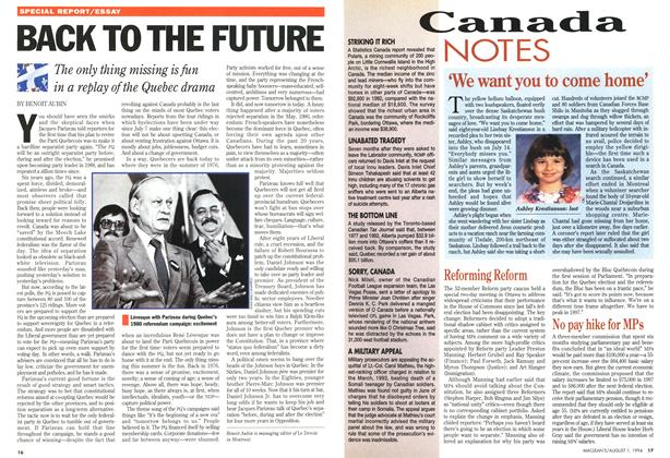 Article Preview: No pay hike for MPs, August 1994 | Maclean's