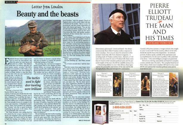 Article Preview: Beauty and the beasts, August 1994 | Maclean's