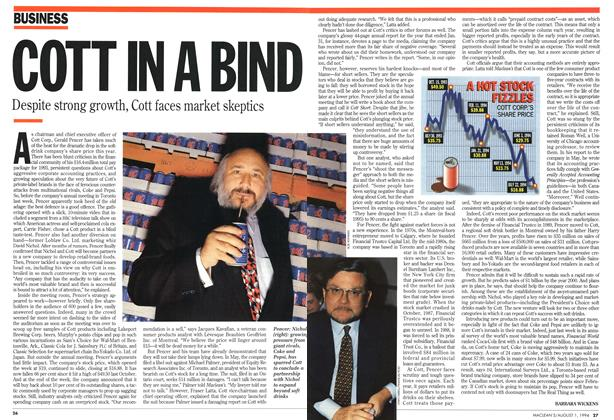 Article Preview: COTT IN A BIND, August 1994 | Maclean's