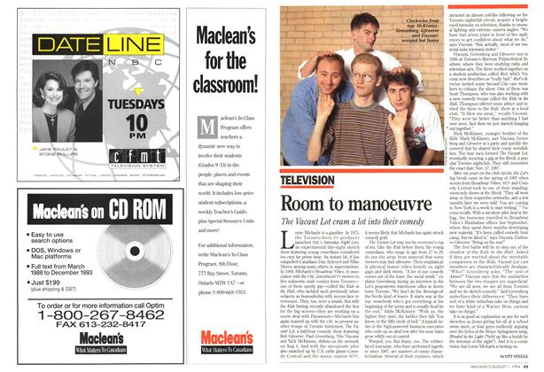 Article Preview: Room to manoeuvre, August 1994 | Maclean's