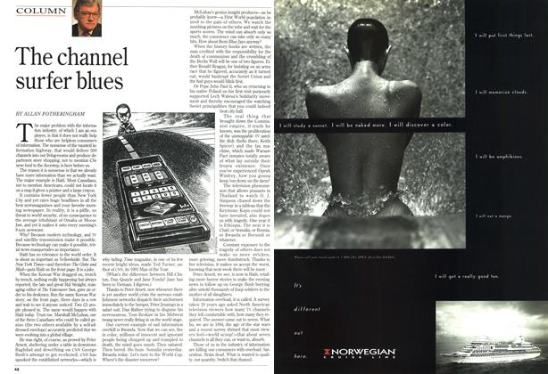 Article Preview: The channel surfer blues, August 1994 | Maclean's