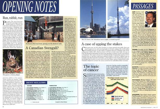 Article Preview: BEST-SELLERS, August 1994 | Maclean's