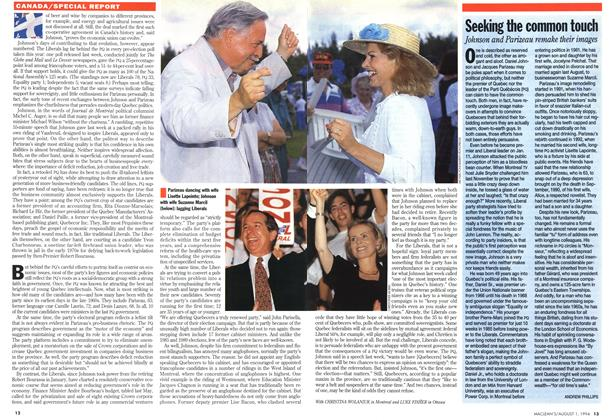 Article Preview: Seekiig the common touch, August 1994 | Maclean's