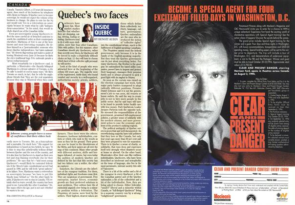 Article Preview: Quebec's two faces, August 1994 | Maclean's