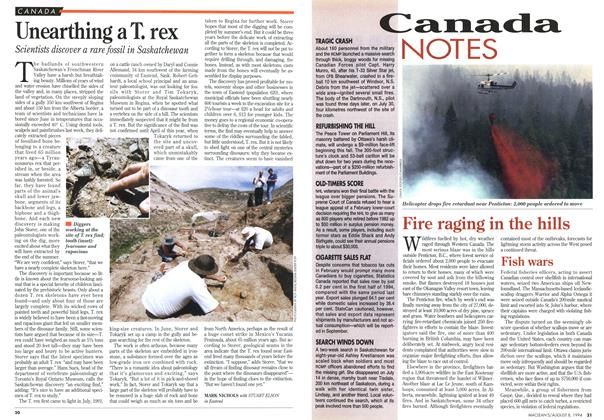 Article Preview: Unearthing a T. rex, August 1994 | Maclean's