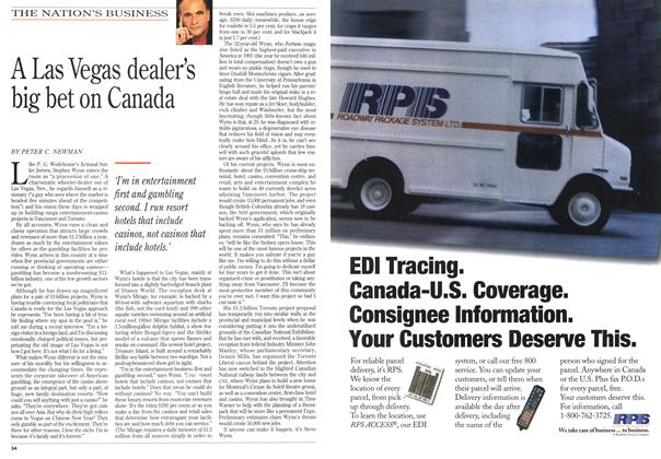 Article Preview: A Las Vegas dealer's big bet on Canada, August 1994 | Maclean's