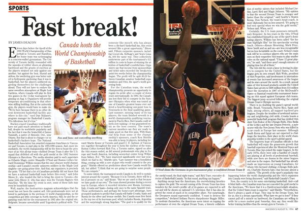 Article Preview: Fast break!, August 1994 | Maclean's