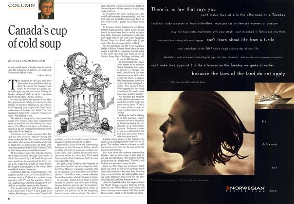 Article Preview: Canada's cup of cold soup, August 1994 | Maclean's