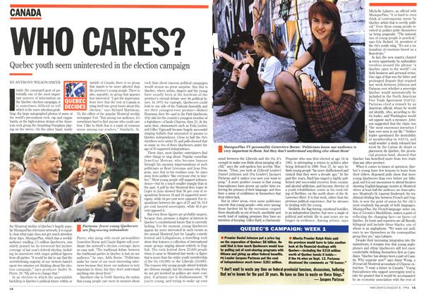 Article Preview: WHO CARES?, August 1994 | Maclean's