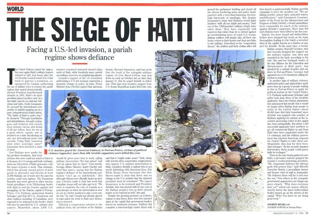 Article Preview: THE SIEGE OF HAITI, August 1994 | Maclean's